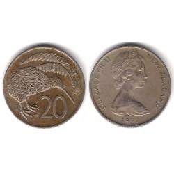 (36.1) Nueva Zelanda. 1972. 20 Cents (MBC-)