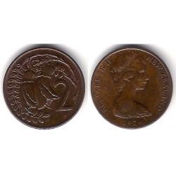 (32.1) Nueva Zelanda. 1974. 2 Cents (EBC)