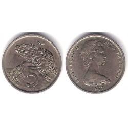 (34.1) Nueva Zelanda. 1967. 5 Cents (MBC)