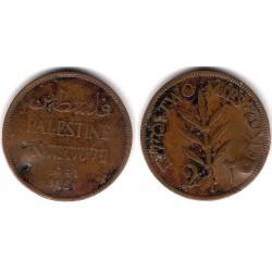 (2) Palestina. 1941. 2 Mils (BC) Dañada