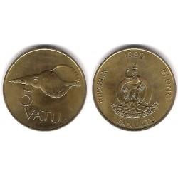 (5) Vanuatu. 1990. 5 Vatu (SC)