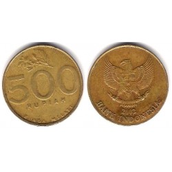 (59) Indonesia. 2002. 500 Rupiah (BC)