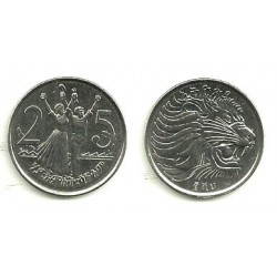 (46) Etiopía. 1969. 25 Cents (SC)