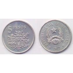 (20) Guinea-Bissau. 1977. 5 Pesos (SC)