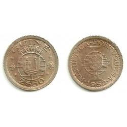 (9) Guinea-Bissau. 1952. 2 ½ Escudos (SC)