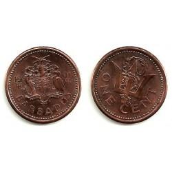 (10) Barbados. 1991. 1 Cent (EBC)