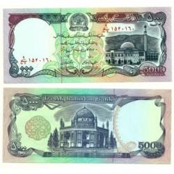 (62) Afganistán. 1993. 5000 Afghanis (SC)