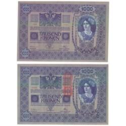 (59) Austria-Hungria. 1902. 1000 Kronen (SC-) Sello 1919