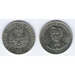 (153) Haití. 1991. 50 Centimes (MBC)