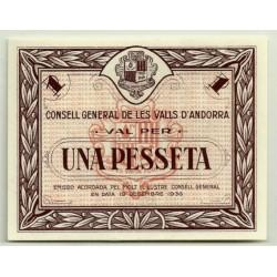 (6) Andorra. 1 Peseta. 1936 (SC)