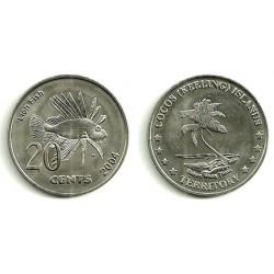 (2004) Islas Cocos. 2004. 20 Cents (SC)