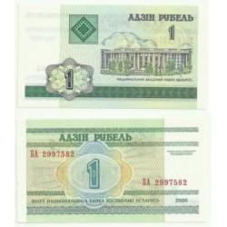 (21) Bielorrusia. 2000. 1 Rublei (SC)