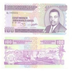 (37c) Burundi. 2001. 100 Francs (SC)