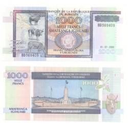 (39.c) Burundi. 2000. 1000 Francs (SC)