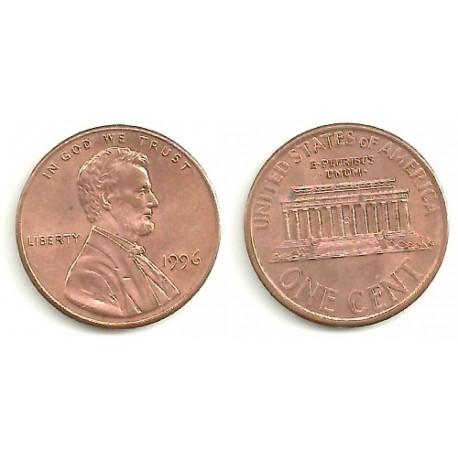 (201) Estados Unidos de América. 1996. 1 Cent (BC)