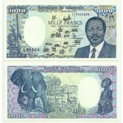 (26b) Camerún. 1990. 1000 Francs (SC)