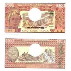 (15d) Camerún. 1983. 500 Francs (SC)