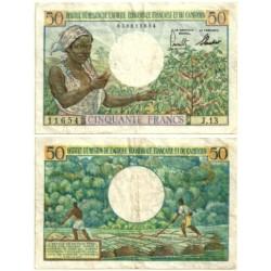(31) Camerún. 1957. 50 Francs (MBC)