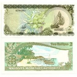 (9) República de Maldivas. 1983. 2 Rufiyaa (SC)