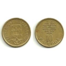 (632) Portugal. 1989. 10 Escudos (MBC)