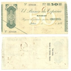 [1936] Billete de 50 Pesetas (MBC).