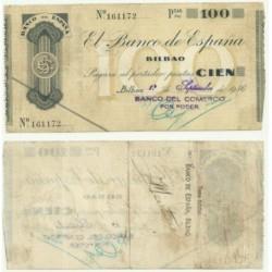 [1936] Billete de 100 Pesetas (MBC).