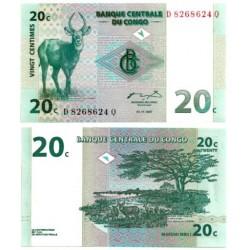 (83) Congo. 1997. 20 Centimes (SC)