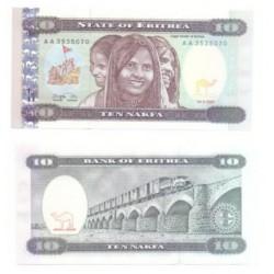 (3) Eritrea. 1997. 10 Nafka (SC)