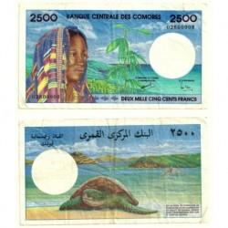 (13) Islas Comores. 1997. 2500 Francs (BC)