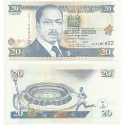 (35.b) Kenia. 1997. 20 Shilingi (SC)