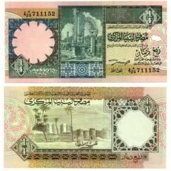 (57b) Libia. ¼ Dinar (SC)