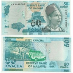 Malaui. 2012. 50 Kwacha (SC)