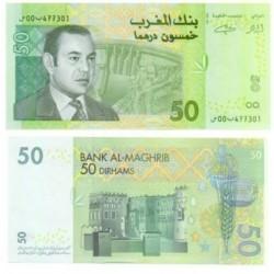 (69a) Marruecos. 2002. 50 Dirham (SC)
