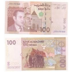 Marruecos. 2002. 100 Dirham (SC)
