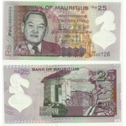 Mauricio. 2013. 25 Rupees (SC)