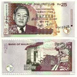 (49) Mauricio. 1999. 25 Rupees (SC)