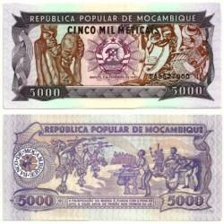 (133b) Mozambique. 1989. 5000 Meticais (SC)