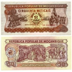 (129b) Mozambique. 1986. 50 Meticais (SC)