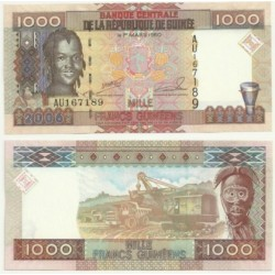 (40) República de Guinea. 2006. 1000 Francs (SC)