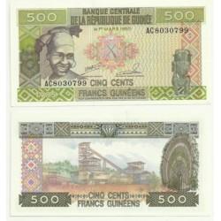 (31) República de Guinea. 1985. 500 Francs (SC)