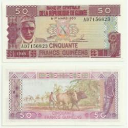 (29) República de Guinea. 1985. 50 Francs (SC)