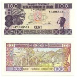 (30) República de Guinea. 1985. 100 Francs (SC)